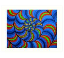 spiral movement Art Print