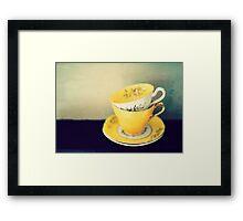 yellow teacups Framed Print