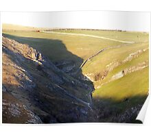 The Climb To Thorpe Pasture From Dovedale Poster