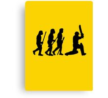 evolution of cricket Canvas Print