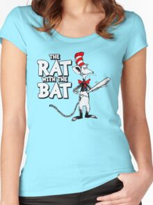 The Rat With The Bat Women's Fitted Scoop T-Shirt