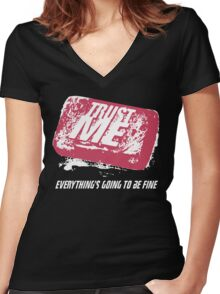 Trust Me Women's Fitted V-Neck T-Shirt