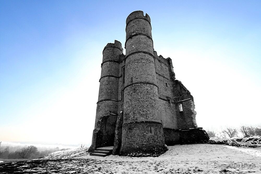Donnington Castle In The Snow by Samantha Higgs