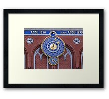 Astronomical clock on the House of Blackheads in Riga Framed Print