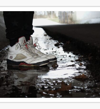 Jordan Sneakers In Water Sticker