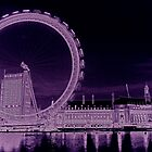 London Eye Art by DavidHornchurch