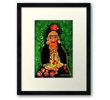 Mexican  Frida Folk Art Portrait Framed Print