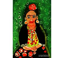 Mexican  Frida Folk Art Portrait Photographic Print