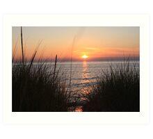 Sunset on Lake Michigan Art Print