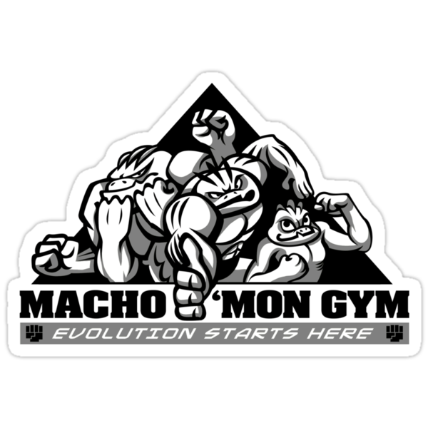 Macho'mon Gym by Kari Fry