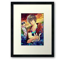Makoto and his Cat Framed Print
