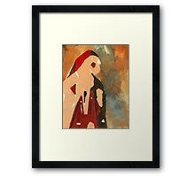 Blind woman Framed Print