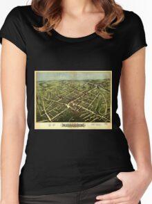Panoramic Maps Westfield 1875 Women's Fitted Scoop T-Shirt