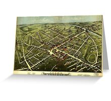 Panoramic Maps Westfield 1875 Greeting Card