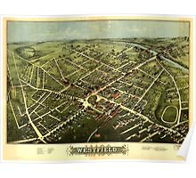 Panoramic Maps Westfield 1875 Poster