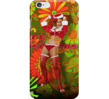 Dancin' Pop Santa Girl  iPhone Case/Skin