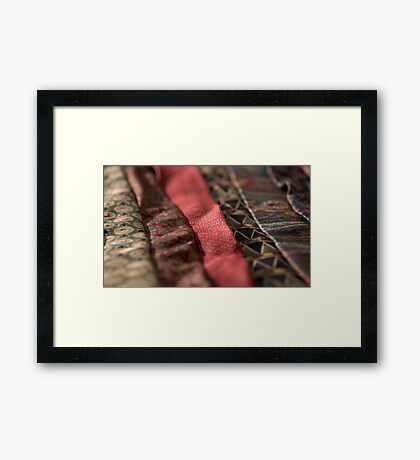 Coloured Materials Framed Print