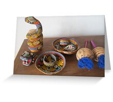 A little Collection of Huichol Art - Arte Huichol Greeting Card