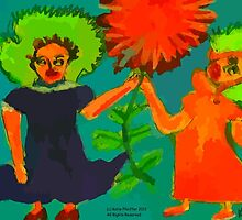 Funky Flower Girls by Kater
