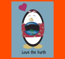 Waddles the Penguin Loves the Earth Kids Clothes