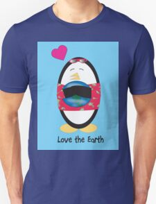 Waddles the Penguin Loves the Earth Unisex T-Shirt
