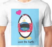 Waddles the Penguin Loves the Earth Unisex T-Shirt