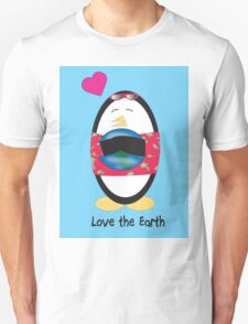 Waddles the Penguin Loves the Earth T-Shirt