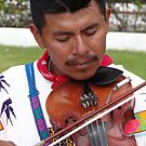 The Father - Leader, Singer, Fiddler - El Padre - Conductor, Cantante, Violinista  by Bernhard Matejka