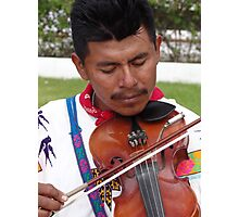 The Father - Leader, Singer, Fiddler - El Padre - Conductor, Cantante, Violinista  Photographic Print