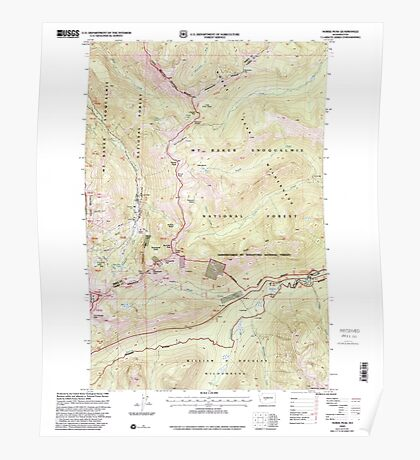 USGS Topo Map Washington State WA Norse Peak 242851 2000 24000 Poster