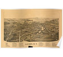 Panoramic Maps Le Roy NY Poster
