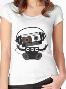 Cassette Robot Women's Fitted Scoop T-Shirt