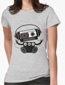 Cassette Robot Womens Fitted T-Shirt