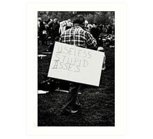 Protest Art Print