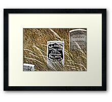 Custer's Headstone Framed Print