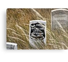 Custer's Headstone Metal Print