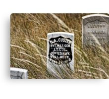 Custer's Headstone Canvas Print