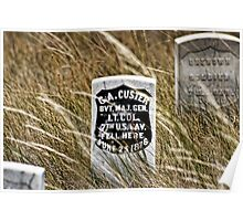 Custer's Headstone Poster