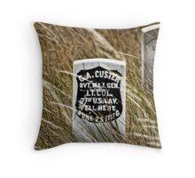Custer's Headstone Throw Pillow
