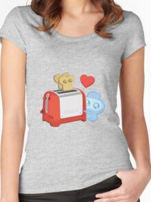 Bravest Warriors - Jelly Kid Love Toast Women's Fitted Scoop T-Shirt
