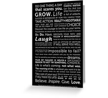 Powerful Thoughts to Inspire Greeting Card