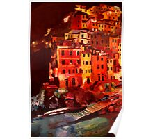 Magic Cinque Terre Night in Riomaggiore Poster