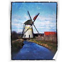 Windmill De Marsch, The Netherlands Poster