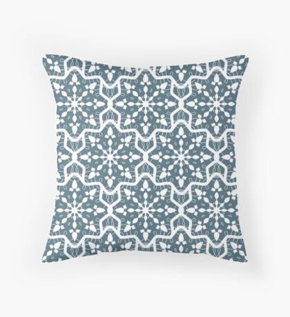 New Year; Christmas; winter. Lace pattern Throw Pillow