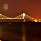 Charles Ravenal Jr.Bridge At Night by Kathy Baccari