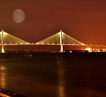 Charles Ravenal Jr.Bridge At Night by Kathy Baccari