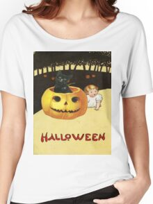 Shocking The Baby (Vintage Halloween Card) Women's Relaxed Fit T-Shirt