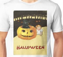 Shocking The Baby (Vintage Halloween Card) Unisex T-Shirt