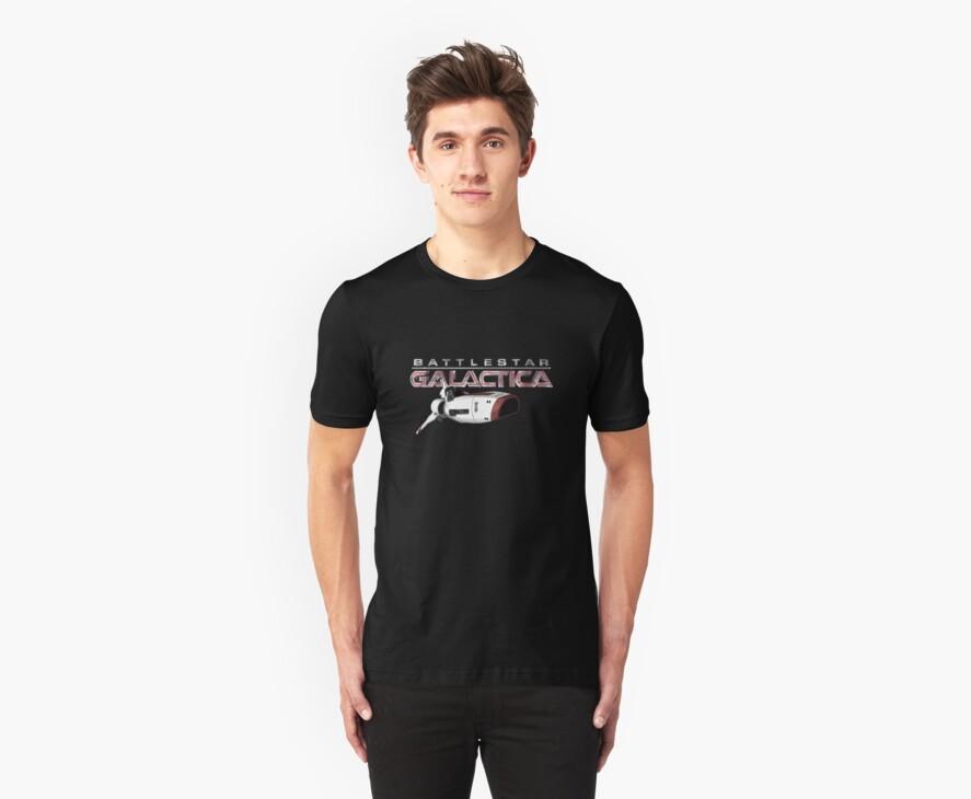 Battlestar Galactica Viper T-shirt by Chris Cardwell