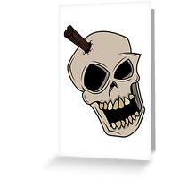 Punk stake skull. Greeting Card